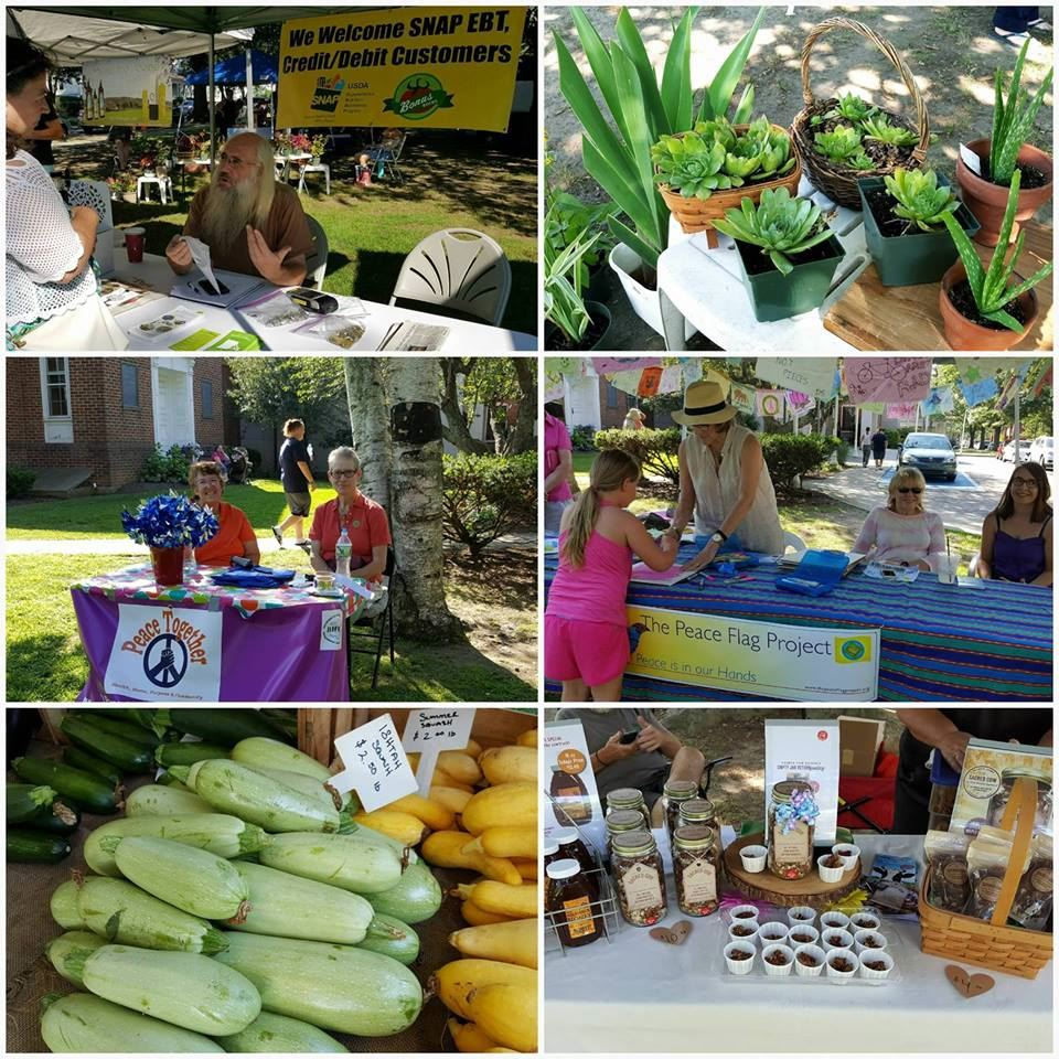 Weaver Library Farmers' Market Collage