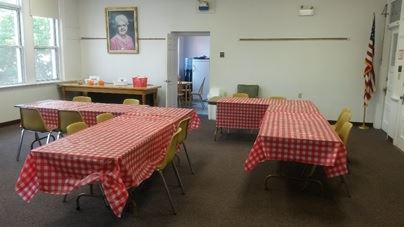 The room where Summer Lunches are served at the East Smithfield Library